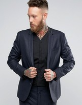 Religion Skinny Suit Jacket In Prince Of Wales Check