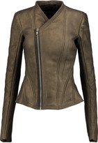 Rick Owens Metallic leather jacket