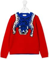 Gucci Kids - tiger intarisa jumper - kids - Wool - 5 yrs
