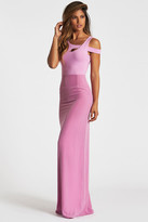 Donna Mizani Cold Shoulder Maxi Dress In Lilac