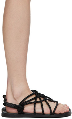 Ann Demeulemeester Black Braided Tucson Flat Sandals