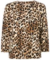 Alberto Biani leopardprint top