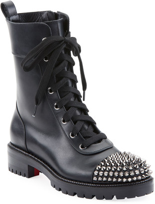 Christian Louboutin Croc Flat Red Sole Booties