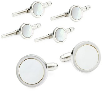David Donahue 3-Pair Sterling Silver & Mother Of Pearl Cufflink