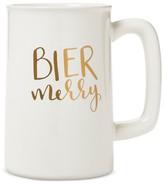 "Threshold Bier Merry"" Beer Mug 20oz Stoneware White"
