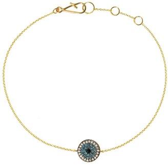 Annoushka 18kt yellow gold Love Diamonds evil eye diamond bracelet