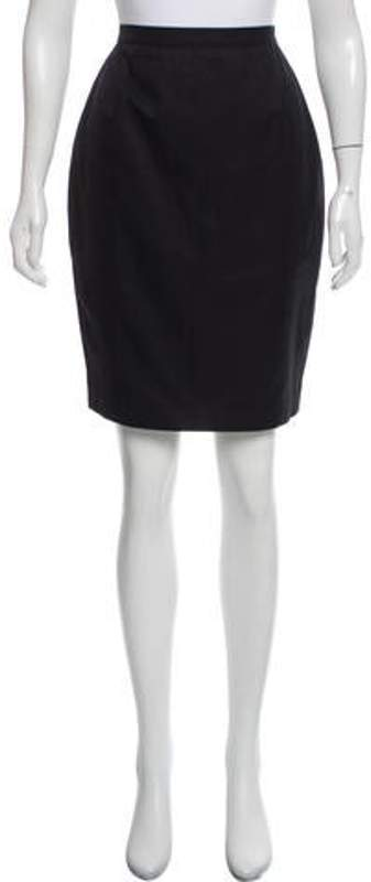 Thierry Mugler A-Line Knee-Length Skirt Black A-Line Knee-Length Skirt
