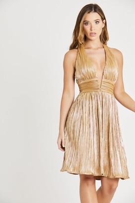 Skirt & Stiletto Gold Metallic Dress
