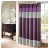 Nobrand No Brand Salem Solid Pieced Polyester Shower Curtain with Pintucking