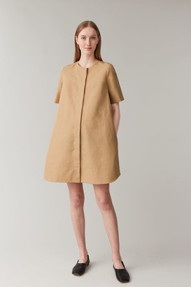 Cos Cotton-Linen A-Line Shirt Dress