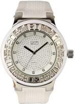 Eton Men's Quartz Watch with White Dial Analogue Display and White Plastic or PU Strap 2965J-WT