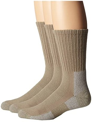 Thorlos Trail Hiking Crew Sock 3-Pair Pack (Khaki) Men's Crew Cut Socks Shoes