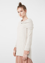 MANGO Open Neck Sweater