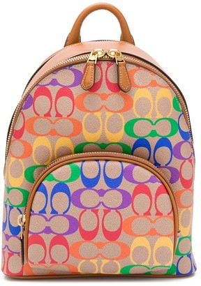 Coach Carrie monogram pattern backpack