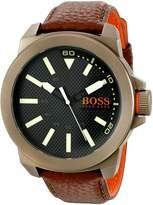 BOSS ORANGE Men's 1513168 New York Analog Display Japanese Quartz Brown Watch