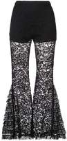 Givenchy lace detail flared trousers