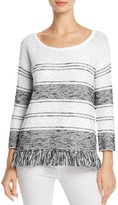Soft Joie Kenley Fringe-Trimmed Sweater
