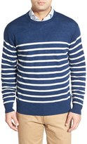 Peter Millar Stripe Crew Neck Sweater