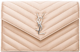 Saint Laurent Monogram Quilted Satin Envelope Chain Wallet
