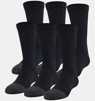 Under Armour Kids' UA Performance Tech Crew Socks 6-Pack