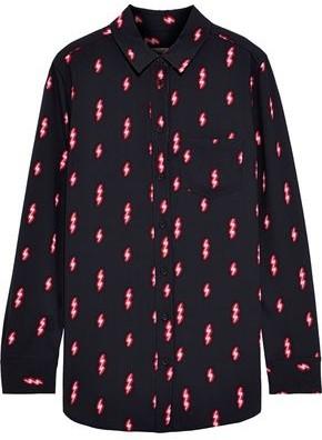 Equipment Reese Printed Crepe De Chine Shirt
