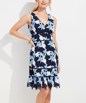 Vineyard Vines Women's Casual Dresses 3056 - Deep Bay Rose Lace V-Neck Dress - Women