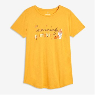 Joe Fresh Women's Graphic Sleep Tee, Gold (Size XS)