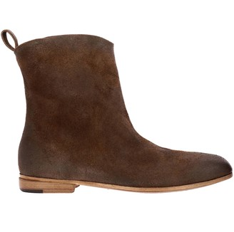 Marsèll Heeled Booties Formicaccio Ankle Boots In Suede With Hand-colored Natural Leather Sole