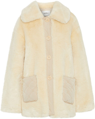 GOEN.J Quilted Shell-trimmed Faux Fur Coat