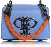 Emilio Pucci Sky Blue Leather Shoulder Bag w/Color Block Chain Strap