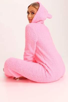I SAW IT FIRST Baby Pink Teddy Bear Onesie