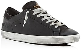 Golden Goose Unisex Superstar Distressed Leather Low-Top Sneakers