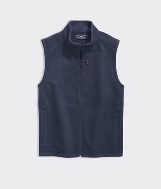 Vineyard Vines Big & Tall Mountain Sweater Fleece Vest