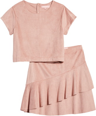BCBG Girls BCBGirls Shirt & Ruffle Skirt Set