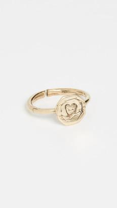 Maison Monik Heart Plate Ring