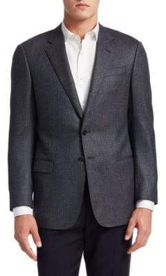 Giorgio Armani Wool Button-Front Jacket