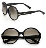 Max Mara Detail 56MM Round Sunglasses