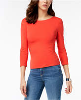 GUESS Gillian 3/4-Sleeve Lace-Up Top