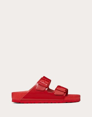 Valentino Leather Slide Sandal In Collaboration With Birkenstock Women Rouge Pur Leather 100% 36