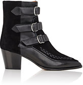 Isabel Marant Women's Dickey Suede & Leather Ankle Boots-BLACK