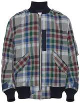 Sacai Checked bomber jacket