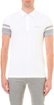 HUGO BOSS Racer stripe cotton-blend polo shirt