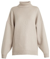 Tibi Roll-neck oversized cashmere sweater