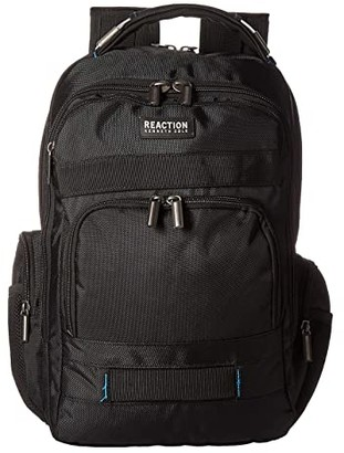 Kenneth Cole Reaction 17 Triple Compartment RFID Computer Business Backpack (Black) Backpack Bags