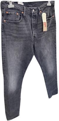 Levi's 501 Grey Cotton Jeans