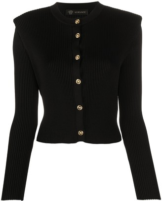 Versace Structured Shoulders Cardigan