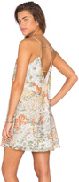 Lucca Couture A Line Printed Organza Shift Dress