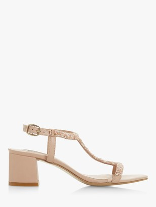 Dune Joelle Embellished Block Heel Sandals