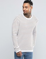 Asos Stripe Sweater with Waffle Texture