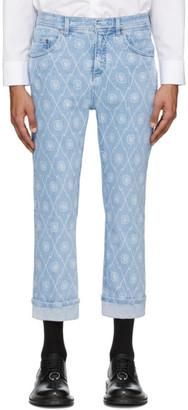 Neil Barrett Blue Monogram Jeans